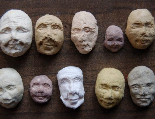 Sprouting Seed Faces by Kelsey Pike Papercraft